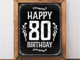 Happy 80th Birthday Decorations 80th Birthday Party Decorations Happy 80th Birthday Sign