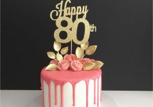 Happy 80th Birthday Decorations Any Age Cake Topper