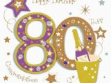 Happy 80th Birthday Decorations Happy 80th Birthday Greeting Card by Talking Pictures
