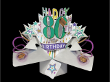 Happy 80th Birthday Decorations Happy 80th Birthday Pop Up Greeting Card Cards