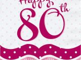 Happy 80th Birthday Decorations Perfectly Pink Party Happy 80th Birthday Lunch Napkins X