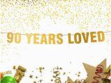 Happy 90th Birthday Banners 90th Birthday Banner Etsy