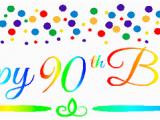 Happy 90th Birthday Banners Cakesupplyshop Item 090rpb Happy 90th Birthdayrainbow Wall