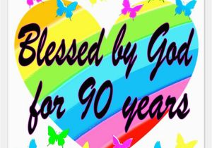 Happy 90th Birthday Decorations Invitations For