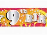 Happy 9th Birthday Banners Happy 9th Birthday Folie Banner Van Bijna 3 Meter