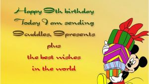 Happy 9th Birthday to My son Quotes Happy 9th Birthday Wishes Occasions Messages