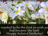 Happy Belated Birthday Flowers Happy Belated Birthday Pictures Images Commentsdb Com