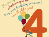 Happy Birthday 4 Year Old Quotes for A Special 4 Year Old Free for Kids Ecards Greeting