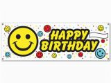 Happy Birthday 60 Banner Club Pack Of 12 Fun and Festive Happy Birthday Smile Face