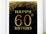 Happy Birthday 60 Banner Instant Download Cheers to 60 Years Printable 60th Birthday