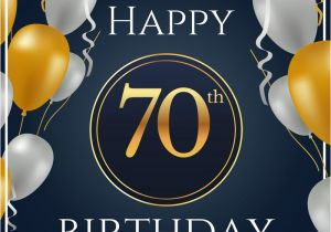 Happy Birthday 70 Years Old Card 70th Wishes Messages For Year Olds
