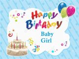 Happy Birthday Baby Girl Cards 33 Cute Baby Girl Birthday Wishes Picture Image