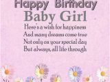 Happy Birthday Baby Girl Cards Happy Birthday Quotes for Baby Girl Wishesgreeting