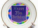 Happy Birthday Balloon Banner asda 3drose Balloons with Purple Banner Happy 75th Birthday