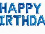 Happy Birthday Balloon Banner Blue 16 Quot Happy Birthday Balloons Balloon Kit Birthday Party