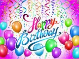 Happy Birthday Balloon Banner Blue Balloons Happy Birthday Colorful Balloon Sparkles Holiday