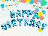 Happy Birthday Balloon Banner Blue Vlovelife Blue Happy Birthday Balloons Balloon Glue