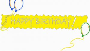 Happy Birthday Balloon Banner Clipart Happy Birthday Banner Yellow Holiday Birthday Happy