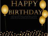Happy Birthday Balloon Banner Gold Balloons Happy Birthday On Black Gold Stock Vector