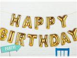 Happy Birthday Balloon Banner Gold Gold 39 Happy Birthday 39 Foil Balloon Party Banner Pipii