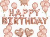 Happy Birthday Balloon Banner Rose Gold 1set Happy Birthday Ballon Lettre Rose Gold Star Heart