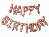 Happy Birthday Balloon Banner Rose Gold Rose Gold Happy Birthday Balloon Banner