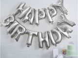 Happy Birthday Balloon Banner Silver asda Happy Birthday Balloon Bunting Silver Balloons Party