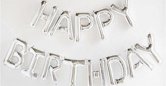 Happy Birthday Balloon Banner Silver asda Happy Birthday Silver Letter Balloon Banner Garland
