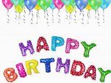 Happy Birthday Balloon Banner Small Happy Birthday Balloons Aluminum Foil Banner Balloons for