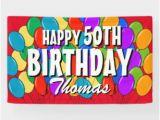 Happy Birthday Balloon Banner Uk 50th Birthday Posters Prints Zazzle Uk