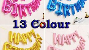 Happy Birthday Balloon Banner Uk Uk Banner Bunting Large Happy Birthday Self Inflating