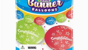 Happy Birthday Balloon Banner Walmart Pioneer Balloon Pbn11191bn Congrats Party Banner Balloons