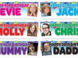 Happy Birthday Banner 18th Large Personalised Gloss Photo Birthday Party Banner 16th