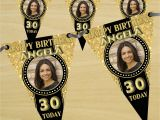 Happy Birthday Banner 18th Personalised Black Gold Happy 18th 21st 30th 40th