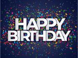 Happy Birthday Banner 4k Happy Birthday Banner with Confetti Vector Free Download