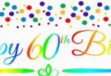 Happy Birthday Banner 50s Cakesupplyshop Item 060rpb Happy 60th Birthdayrainbow Wall