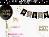 Happy Birthday Banner 50s Happy 50th Birthday Banner 50th Birthday Decorations 50th