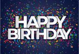 Happy Birthday Banner 50s Happy Birthday Banner with Confetti Vector Free Download