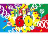 Happy Birthday Banner 60s Happy 60th Birthday Flag Special Celebration Flag