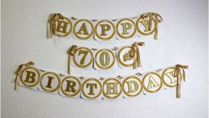 Happy Birthday Banner 70th Gold Happy 70th Birthday Banner All About Details