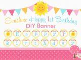 Happy Birthday Banner 99 Cent Store Sunshine Happy 1st Birthday Banner Printable Diy Birthday