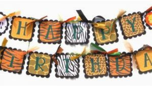 Happy Birthday Banner Animal theme Cute Jungle Animal theme Print Happy Birthday by