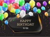 Happy Birthday Banner App Download Happy Birthday Background with Glass Banner Vectors 04