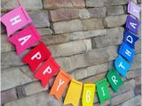 Happy Birthday Banner Australia Printable Happy Birthday Banner Rainbow Birthday Party