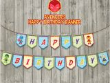 Happy Birthday Banner Avengers Avengers Superhero Inspired Happy Birthday Party Banner