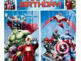 Happy Birthday Banner Avengers Wall Decoration Kids Happy Birthday Banner Avengers