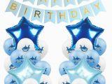 Happy Birthday Banner Baby Shark Amawill Blue Angry Shark Latex Balloon Happy Birthday