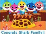 Happy Birthday Banner Baby Shark Baby Shark Milestone Chalkboard Pink Fong Baby Shark