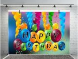 Happy Birthday Banner Background English Happy Birthday Banner 7x5ft Photography Backgrounds