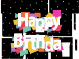 Happy Birthday Banner Background English Happy Birthday Party Gift Box Png and Vector with
